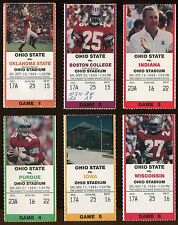 College Football Ticket Ohio State Buckeyes 1989 Home Game Set