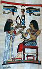 5 by 7 Egyptian Papyrus genuine hand painted eye Horus Nefertari Ramses II
