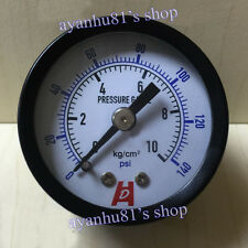 "0-10 KG 0-140 psi Panel Connection Mount Pressure Gauge 1.5"" inch 40mm 1/8 PT"