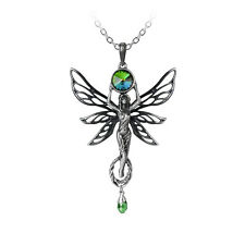GENUINE Alchemy Gothic Pendant - The Green Goddess | Ladies Fashion Necklace