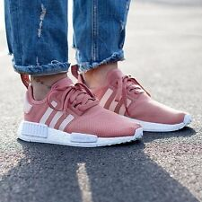 NEW WOMEN'S ADIDAS NMD RAW PINK ROSE SALMON PEACH WHITE SIZE 6.5-7 EUR: 38