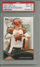2012 Topps Andy Dalton Prolific Playmakers PSA 10