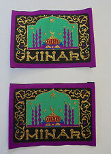 "2 Flicken Applikationen Patches  zum  aufnähen "" MINAR  ""   9 x 6,5 cm  neu"