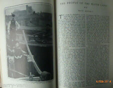 Canal Boat Barge People Brentford Cut Lock Travellers Antique Photo Article 1905