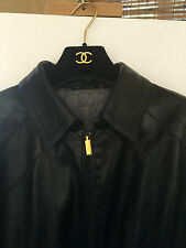 Men's Jacket Zilli Calves Skin Leather Black Size 42-3 European 54