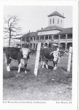 """+PC-POSTCARD-""""Cattle-Forth Worth Stock Yards Hotel & Exchange""""-Ft.Worth Tx (#22)"""