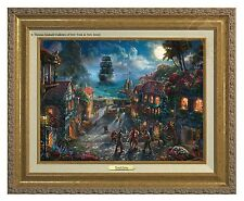 Thomas Kinkade Pirates of the Caribbean Canvas Classic (Gold Frame)