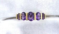 10Kt REAL Yellow Gold Amethyst Gem Stone Gemstone Ladies Fashion Ring ES199R60