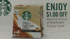 13-coupons Starbucks k-cups pods