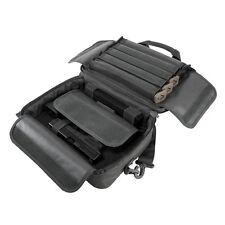 NcStar VISM Padded Double Pistol Range Bag w/Double Stack Magazine Pouches GRAY