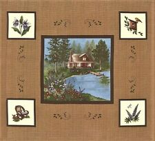 LADY SLIPPER LODGE Fabric Blocks Panel // Moda Fabric Squares by Holly Taylor
