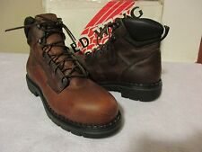 """Women's RED WING 2326 6"""" Safety Toe EH BOOTS, Brown, Sz 10 B, Brand New Irr."""