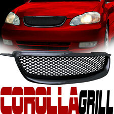 JDM Blk Mesh Front Hood Bumper Grill Grille Replacement Cover Abs 03-04 Corolla