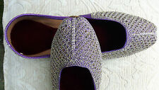PURPLE LADIES INDIAN WEDDING PARTY KHUSSA SHOES   SIZE 10