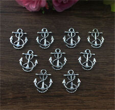Wholesale 16pcs Tibet silver  Anchor Charm Pendant beaded Jewelry Findings DIY