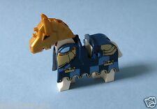 Lego Pferd mit blauer Decke (Pferdedecke) mit Goldkronen  für Set 7009  2490pb07