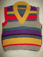 DR.WHO Hand Knited Merino Wool VEST / NEW Size S