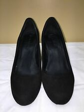 Via Spiga Black Suede Pump leather upper & lining, wedge heel size 8M pre-owned