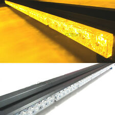 84 LED 1050MM DOUBLE SIDE WORK STROBE EMERGENCY LIGHT BAR BEACON WARNING AMBER