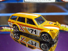 Hot Wheels Special Custom '71 DATSUN BLUEBIRD 510 WAGON Yellow with Real Riders