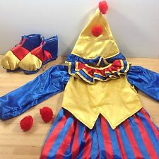 Clownin Round Clown Kids Costume Halloween Childs Outfit Hat Shoes Size Small 4
