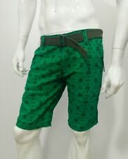 Printed Men's Half Pant Shorts Knicker Cotton Branded w/ Belt- Size 30
