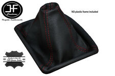 RED STITCHING MANUAL LEATHER GEAR GAITER BOOT FITS FORD MONDEO 2007-2013