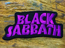 Black Sabbath Rock Band Iron On Sew Applique Embroidered Patch Purple Colors
