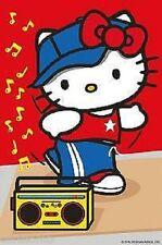 CIALDA per torta HELLO KITTY stereo ostia compleanno formato A4 cod2232