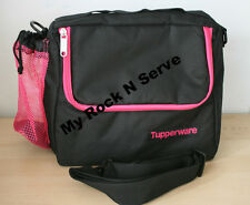 Tupperware Insulates Lunch Bag w/Shoulder Strap Black / Pink  New