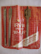 "Irwin Speedbor 88 Plus 3 Drill Bits 3/8"" 1/2"" 7/8"" Hollow Point Electric Micro"