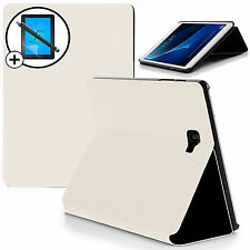 White Clam Shell Smart Case Cover Samsung Galaxy Tab A 10.1 Screen Prot & Stylus