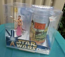 Hasbro Collectible Cup and Figure Star Wars PRINCESS LEIA Action Figure, New