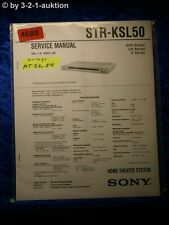 Sony Service Manual STR KSL50 Home Theater System (#4688)