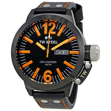 TW Steel CEO Canteen 50 MM Black and Orange Dial Mens Watch CE1028