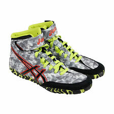 Asics Aggressor 2 LE Mens Grey Synthetic Athletic Lace Up Wrestling Shoes 11