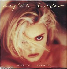 "EIGHT WONDER - Will you remember VINYL 7"" 45 LP ITALY 1987 NEAR  MINT COVER VG+"