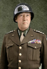 COLOR WW2 Photo WWII US Army General George S Patton Portrait  / 1227