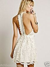 NWOT $128 Free People Ivory Lace Lost In A Dream Twofer Dress 6