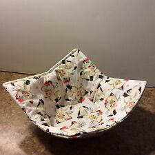 MICROWAVE BOWL COZY ~ POT HOLDER ~ HOME MADE ~  Cutie Cats Fabric