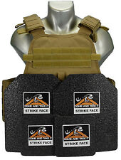 CATI AR500 Body Armor COYOTE MOPC Carrier Level 3  FRAG COATING 10X12 6X6
