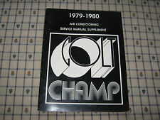 1979-1980 DODGE CHRYSLER COLT-CHAMP AIR CONDITIONING SERVICE MANUAL SUPPLEMENT