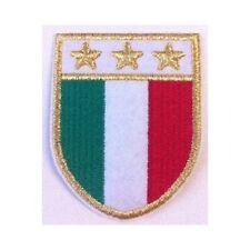 [Patch] SCUDETTO ITALIA TERZA STELLA JUVENTUS cm 5 x 6,5 toppa ricamata -374