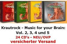 NEU/OVP: Krautrock - Music for your Brain Vol. 2, 3, 4, 5 (24 CD's) + GRATIS-CD