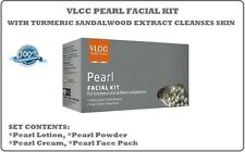 4 PACK VLCC PEARL FACIAL KIT WITH TURMERIC SANDALWOOD EXTRACT CLEANSES SKIN