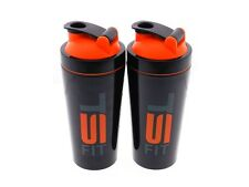 2 TURBO MIXER Stainless Steel 25oz Blender Mixer Bottle Protein Shaker Cup