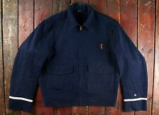 VTG 60s SKYLINE 100% WOOL WHIPCORD UNIFORM JACKET RAILROAD WORKWEAR USA 40/42