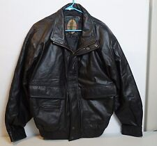 Leather Members Only Jacket Coat Bomber Medium Vintage
