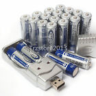 20x AA 3000mAh 1.2 V Ni-MH BTY Rechargeable Battery Cell + AA AAA USB Charger