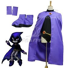 DC Comics Teen Titans Raven Cosplay Costume Halloween Customized Size